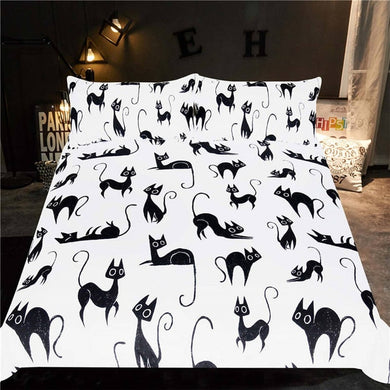 Black Cats Doona Cover 2/3pc set