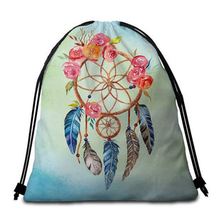 Pastel Dreamcatcher Round Beach Towel  - 2 sizes
