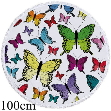 Butterfly Beauty Round Beach Towel - 2 sizes