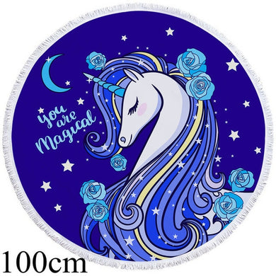 You Are Magic Unicorn Round Beach Towel - 2 sizes