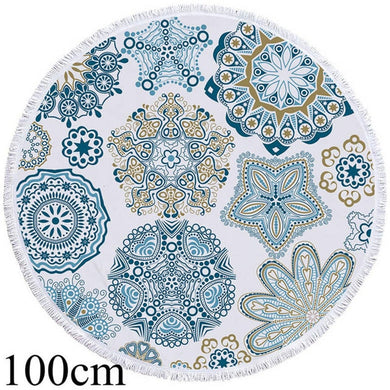 Mandala Mania Round Beach Towel - 2 sizes