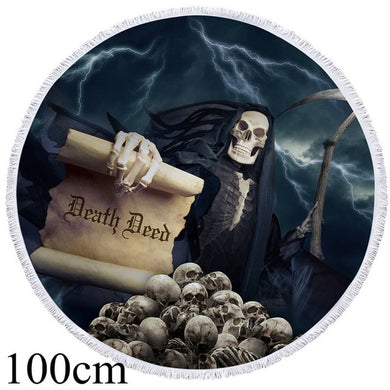 Reapers Death Deed Round Beach Towel - 2 sizes