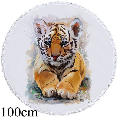 Tiger Cub Round Beach Towel - 2 sizes