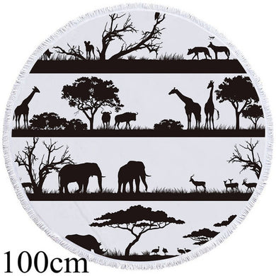 Wild Africa Round Beach Towel - 2 sizes