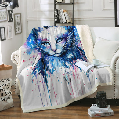 Space by Pixie Cold Art Sherpa Throw Blanket - 4 sizes
