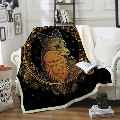 Golden Fox Sherpa Throw Blanket - 4
