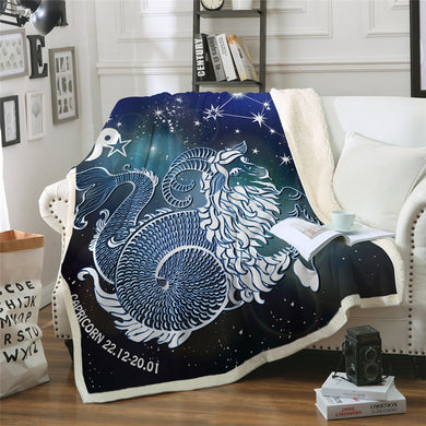 Capricorn Sherpa Throw Blanket - 4