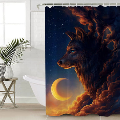 Night Guardian by JoJoesArt Shower Curtain