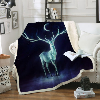 Nightbringer by JoJoesArt Sherpa Throw Blanket - 4 sizes