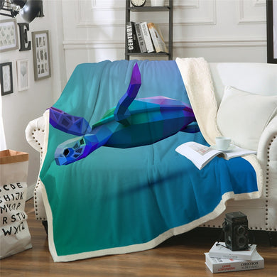 Turtle 3D Sherpa Throw Blanket - 4 sizes