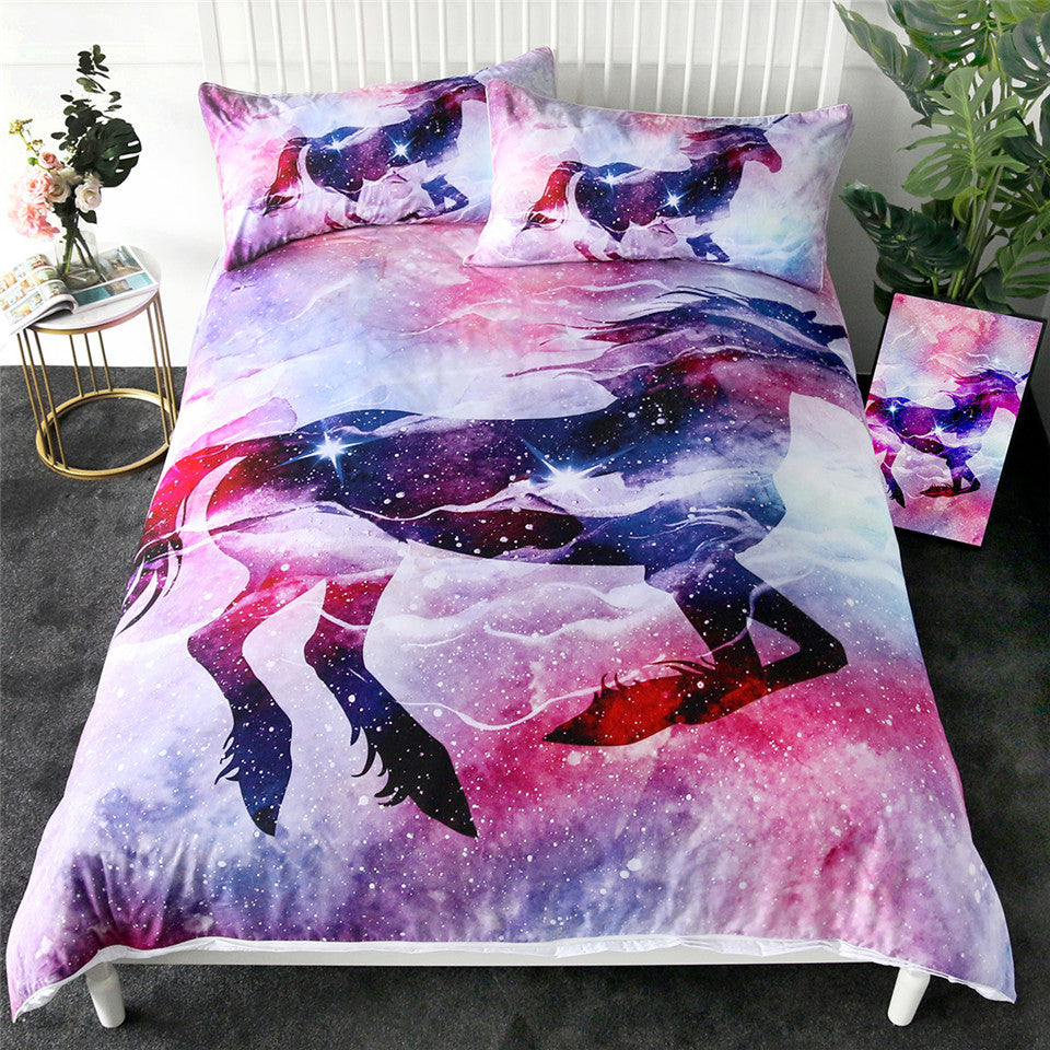 Unicorn Galaxy Doona Cover 2/3pc set