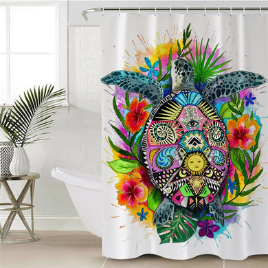 Turtle Life by Pixie Cold Art Shower Curtain