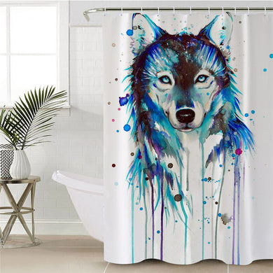 Ice Wolf by Pixie Cold Art Shower Curtain