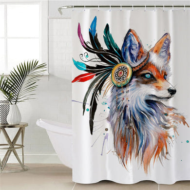 Fox by Pixie Cold Art Shower Curtain
