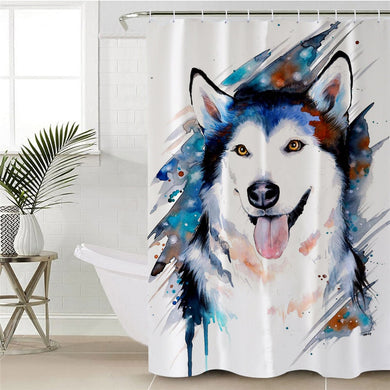 Husky by Pixie Cold Art Shower Curtain