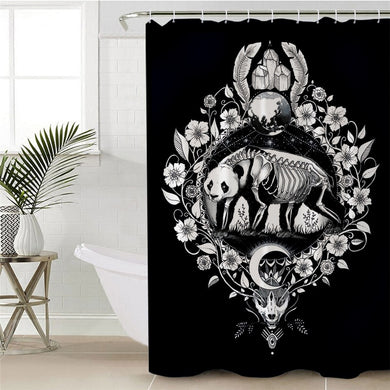 Panda by Pixie Cold Art Shower Curtain
