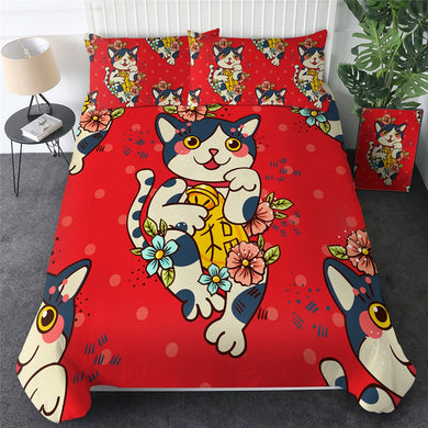 Cute Cat Doona Cover 2/3pc set