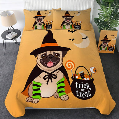 Halloween Pug Doona Cover 2/3pc set