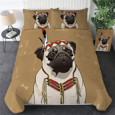 Chief Pug Doona Cover 2/3pc set