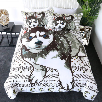 Husky Pup Doona Cover 2/3pc set
