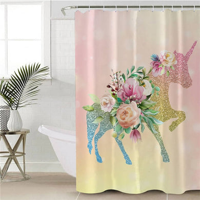 Shining Unicorn Shower Curtain