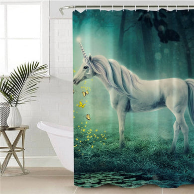 Dreamy Unicorn Shower Curtain