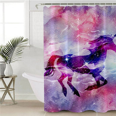Unicorn Galaxy Shower Curtain