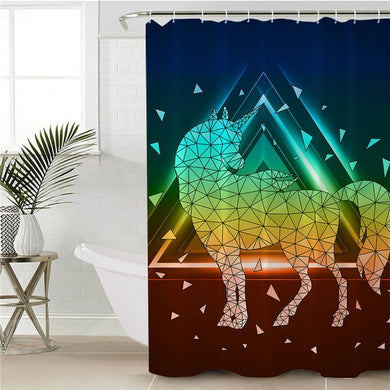 Prism Unicorn Shower Curtain