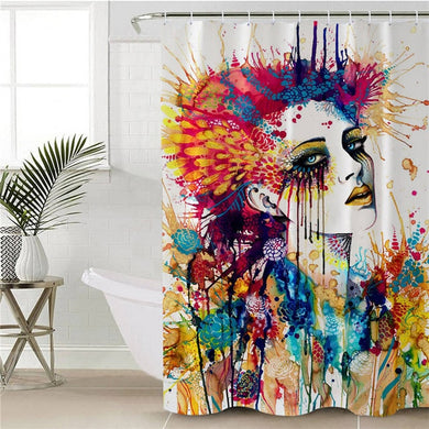 Flora by Pixie Cold Art Shower Curtain