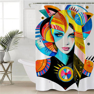 Native Girl by Pixie Cold Art Shower Curtain