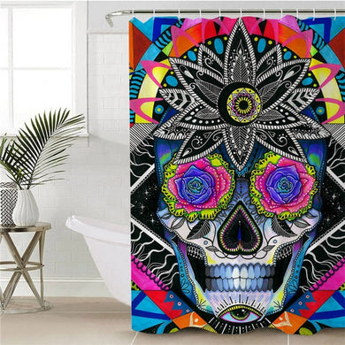Sugar Skull by Pixie Cold Art Shower Curtain