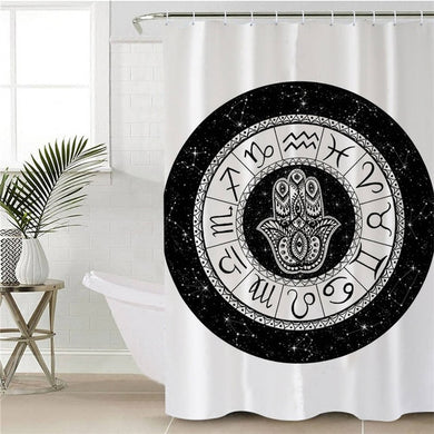 Kreis Sternzeichen by Pixie Cold Art Shower Curtain