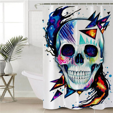 Skull by Pixie Cold Art Shower Curtain