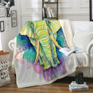 Elephant Elegance Throw Blanket - 4 sizes