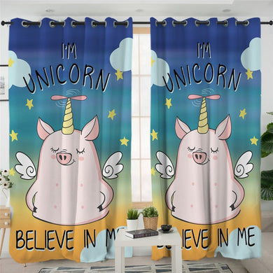 I'm Unicorn Uni-pig Curtains