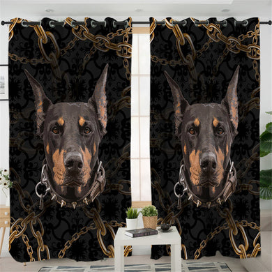 Doberman Curtains