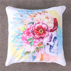 Watercolour Skull Cushion Cover - My Diva Baby