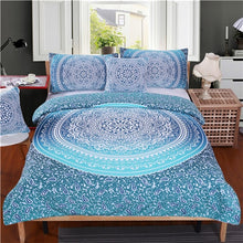 Blue on Blue Doona Cover 4pcs set - My Diva Baby