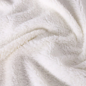Cute White Elephant Sherpa Throw Blanket - My Diva Baby