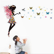 Winged Girl with Butterflies - Removable Wall sticker - My Diva Baby