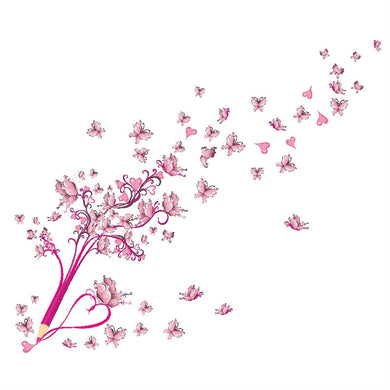 Pink Butterfly - Removable Wall Stickers - My Diva Baby