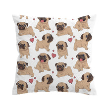 Fawn Pug - White - Cushion Cover - My Diva Baby