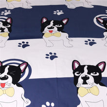 Blue Bow Tie French Bulldog Doona Cover 3pc set - My Diva Baby