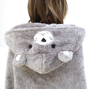 Teddy Bear Head Hooded Blanket with hand mittens - My Diva Baby