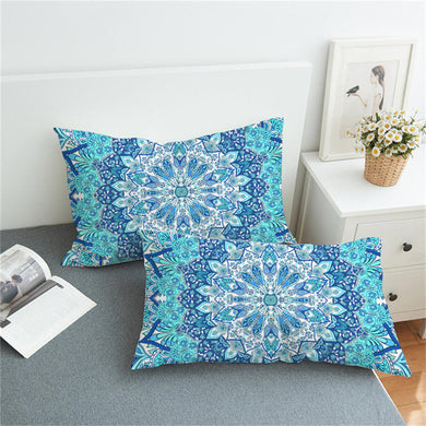 Blue Mandala Mayhem Pillowcase 2pcs - My Diva Baby