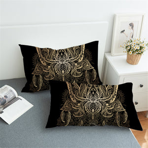 Golden Lotus Pillowcase 2pcs - My Diva Baby