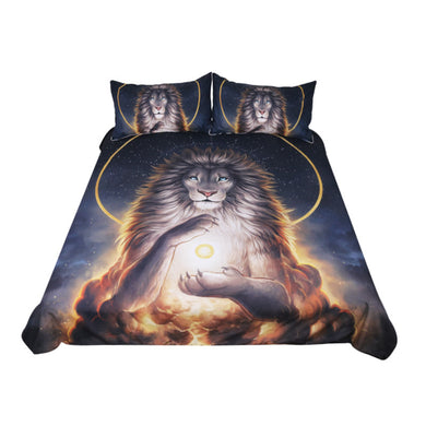 Soul Keeper by JoJoesArt - Lion God In The Sky Doona Cover 3pc set - My Diva Baby