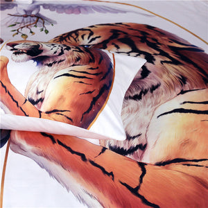 Peace White by JoJoesArt - White - Two Tigers Doona Cover 3pc set - My Diva Baby