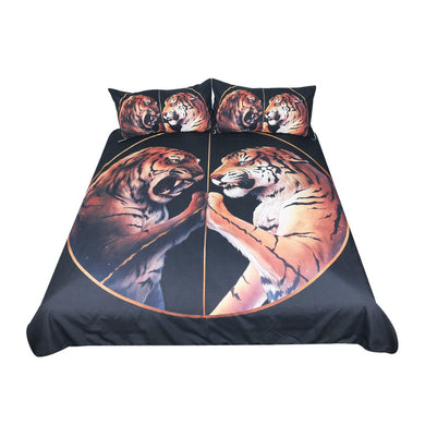 Peace Black by JoJosArt  - Two Tigers Doona Cover 3pc set - My Diva Baby
