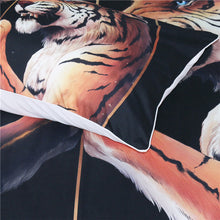 Peace by JoJoesArt - Black - Two Tigers Doona Cover 3pc set - My Diva Baby
